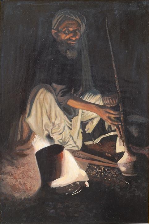 Человек с кальяном []